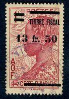 Timbre Fiscal D'AOF -Timbre-poste De Côte D'Ivoire De 1936 Surchargé Timbre Fiscal - 1941-1945 N° 137 - A.O.F. (1934-1959)