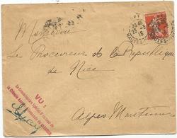 N° 138 TARBES 23.3.1915 LETTRE GRIFFE VU COMMISSAIRE SPECIAL RECTEUR DE LA COLONIE AUSTRO ALLEMANDE DE GARAISON - Postmark Collection (Covers)