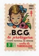 Erinnophilie Vignette Le B.C.G. Te Protègera Contre La Tuberculose 3F Pour La Santé 1966 1967 Illustrateur A. Mercier - Antituberculeux