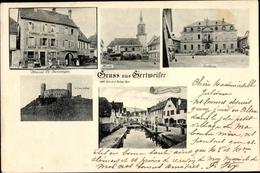 Cp Gertwiller Gertweiler Elsass Bas Rhin, Maison Ch. Fortwenger, Kirche, Rathaus, Schloss Andlau - France