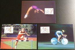 LIECHTENSTEIN 1996 Mi-Nr. 1129/31 Maximumkarten MK/MC 141 - Cartes-Maximum (CM)