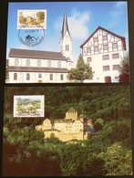 LIECHTENSTEIN 1996 Mi-Nr. 1126/27 Maximumkarten MK/MC 139 - Cartes-Maximum (CM)