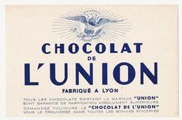 Buvard 20.9 X 13.5 Chocolat De L'UNION Lyon Rhône  Aigle - Cocoa & Chocolat