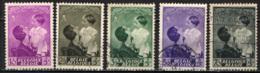 BELGIO - 1937 - EFFIGIE DELLA PRINCIPESSA JOSEPHINE-CHARLOTTE - FRANCOBOLLI PRO OPERE ANTITUBERCOLARI - USATI - Usati