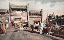 ¤¤  -    CHINE   -   Street In PEKING  -   Attelage      -  ¤¤ - China