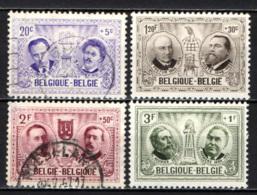 BELGIO - 1957 - SERIE UOMINI ILLUSTRI - USATI - Belgio