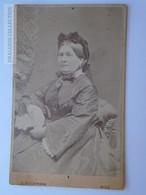 D163317 Cabinet Photo - CDV  - Frau Josefine TELLERY  1873 - Stockmann Photo  WIEN Pancsova Temesvár - Anonieme Personen