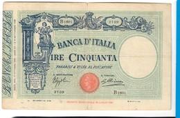 50 Lire MATRICE FASCIO 17 10 1934 Q.BB Bella La Carte Ed I Colori  LOTTO 2457 - 50 Lire
