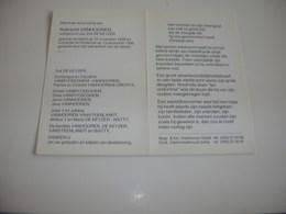 Robrecht Vanhooren (Gistel 1928-Oostende 1995);De Keyzer - Devotieprenten