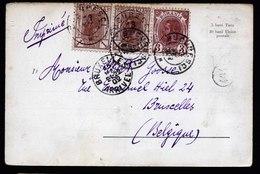 A6131) Rumänien Romania Karte Bukarest 13.05.02 N. Bruxelles / Belgien - 1881-1918: Carol I.