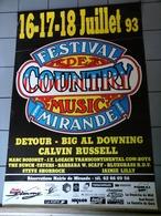 Affiche - Festival De Courtry Musique Mirande 1993. - Affiches & Posters