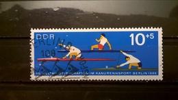 FRANCOBOLLI STAMPS GERMANIA DEUTSCHE DDR 1966 USED CANOE WORLD CHAMPIONSHIP  GERMANY - [6] Repubblica Democratica