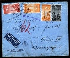 A6135) Dänemark Denmark Luftpostbrief 20.04.37 N. Wien / Austria - 1913-47 (Christian X)