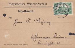 Germany Deutsches Reich MAYSCHOSSER WINZER-VEREIN, MAYSCHOSS 1922 Postkarte 1,25 Mark Reichspostamt Berlin - Briefe U. Dokumente
