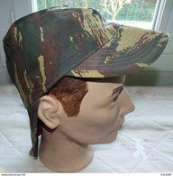 ARMEE AMERICAINE U.S : CASQUETTE AVEC NUQUIERE CAMOUFLEE , TAILLE 7 1/4 SOIT TAILLE FRANCAISE 58  , BON ETAT VOIR PHOTO - Headpieces, Headdresses