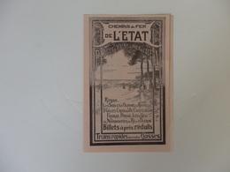 Dépliant Du Chemin De Fer De L'Etat, Plage & Bains De L'Océan De Charente Maritime. - Dépliants Turistici
