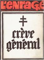 JOURNAL L ENRAGE N° 2 DU 4 JUIN 1968 ANARCHISTE DESSINS DE SINE REISER CABU TOPOR WOLINSKI WILLEM EDITIONS J.J. PAUVERT - Politiek