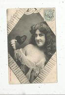 Cp, Femme ,CROQUEUSE DE COEUR , Voyagée 1905 - Donne