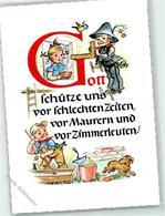 39185364 - Gott Schuetze Uns Vor Schlechten Zeiten ..... Murer Zimmermann , Dackel  Kinder - Postcards