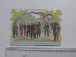 CHROMO DECOUPIS Chocolat PAYRAUD Grand Format: GAMBETTA Dirigeable (1870) Aérostat BARBES- Militaire -GERMAIN Illustrat. - Découpis