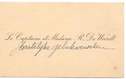 Visitekaartje - Carte Visite - Le Capitaine & Madame R. De Weerdt - Cartes De Visite