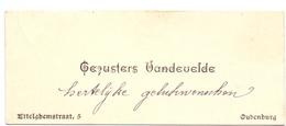 Visitekaartje - Carte Visite - Gezusters Vandevelde - Oudenburg - Cartes De Visite