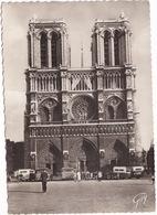 Paris: 5x OLDTIMER AUTOBUS/AUTOCAR - Cathédrale Notre-Dame - (1946) - France - Toerisme