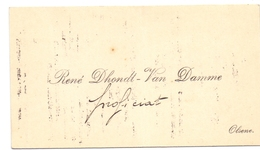 Visitekaartje - Carte Visite - René Dhondt - Van Damme - Olsene - Cartes De Visite