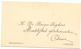 Visitekaartje - Carte Visite - K. De Bruyn - Seghers - Stekene - Cartes De Visite