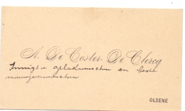 Visitekaartje - Carte Visite - A. De Coster - De Clercq - Olsene - Cartes De Visite