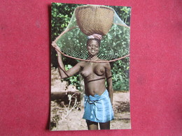 Guinea - Guiné Portuguesa - Pescadora Papel - Biombo - Guinea-Bissau