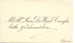 Visitekaartje - Carte Visite - Mr & Mme Léon De Wael - Tanghe - Olsene - Cartes De Visite