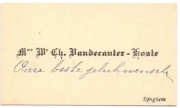 Visitekaartje - Carte Visite - Mr & Mme Ch. Vandecauter - Hoste - Zingem - Cartes De Visite