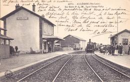 CPA - 43 - ALLEGRES (Hte-Loire) - LA GARE P.LM Ligne DARSAC-VICHY - TRAIN En GARE Voy 1906 - Gares - Avec Trains