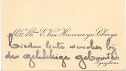 Visitekaartje - Carte Visite - Mr & Mme E. Van Heuverswyn - Claeys - Synghem -  Zingem - Cartoncini Da Visita