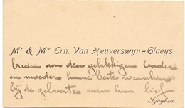 Visitekaartje - Carte Visite - Mr & Mme Ern. Van Heuverswyn - Claeys - Synghem -  Zingem - Cartoncini Da Visita