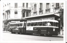 Photo - Lyon  - Bus Accordéon  En 1969   - Ligne 7 -  69 - Rhône - Trains
