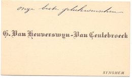 Visitekaartje - Carte Visite - Mr & Mme Ern. Van Heuverswyn - Van Ceulebroeck - Synghem -  Zingem - Cartes De Visite