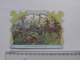CHROMO DECOUPIS Chocolat PAYRAUD Grand Format: Bataille De SPICHEREN (1870) - Soldat Militaire - GERMAIN Illustrateur - Découpis