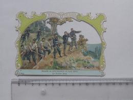 CHROMO DECOUPIS Chocolat PAYRAUD Grand Format: Bataille SPICHEREN 1870 - ROTHER BERG - Militaire - GERMAIN Illustrateur - Découpis