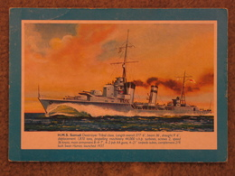 HMS SOMALI - SALMON CARD - Warships