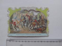 CHROMO DECOUPIS Chocolat PAYRAUD Grand Format: Combat PONT-A-MOUSSON (1870) Cavalerie - Militaire - GERMAIN Illustrateur - Découpis