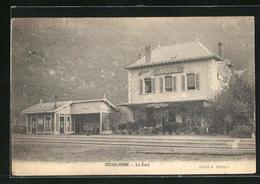 CPA Séchilienne, La Gare, Le Bâtiment De La Gare Von Der Gleisseite - Unclassified