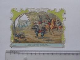 CHROMO DECOUPIS Chocolat PAYRAUD Grand Format: Bataille BORNY (1870) Général DECAEN - Militaire - GERMAIN Illustrateur - Découpis