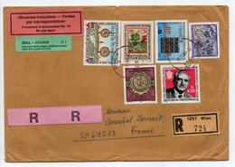 - Lettre Recommandée WIEN (Autriche) Pour SP 69213 (France) 15.10.1986 - Bel Affranchissement Philatélique - DOUANE - - 1981-90 Covers