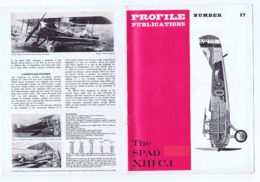 PROFILE PUBLICATIONS - THE SPAD XIII C.1 - WAR PLANE - BROCHURE LTD. COBURG HOUSE - - Books, Magazines, Comics