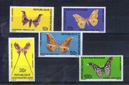 Centrafrique. Poste Aérienne. Papillons - Centrafricaine (République)
