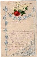 VP14.772 - DONGES 1909 - Lettre Papier Gauffré & Découpis De Melle Marie GUILLO - Manuscrits