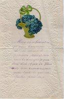 VP14.773 - PRINQUIAU 1910 - Lettre Papier Gauffré & Découpis De Melle Marie BERNARD - Manuscrits
