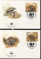 WWF  4 FDC 1985 PARAGUAY FOURMILIER  YVERT N°2365/68 - FDC